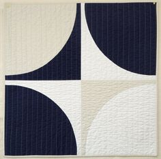 Graphic Modern Baby Quilt  Navy POP by bperrino on Etsy