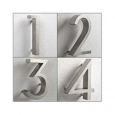 our house numbers - front of house and used the template to paint the same numbers on the mailbox