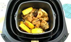 Lemon Rosemary Chicken Using the Airfryer, a quick 15-minute dish!