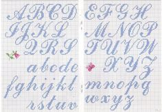 Thrilling Designing Your Own Cross Stitch Embroidery Patterns Ideas. Exhilarating Designing Your Own Cross Stitch Embroidery Patterns Ideas. Cross Stitch Alphabet Patterns, Embroidery Alphabet, Cross Stitch Letters, Letter Patterns, Cross Stitch Charts, Cross Stitch Designs, Embroidery Patterns, Stitch Patterns, Alphabet Cursif