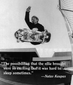 Natas was one of my childhood hero. Before dreaming of California as the land of tech startups, I knew it as the land of skateboarding...