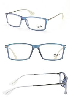 6db3e6a8e1a Eyeglass Cases  New Ray Ban Rb 7021M 5496 Matte Blue Eyeglasses Rx Frames  Rb7021m Sz