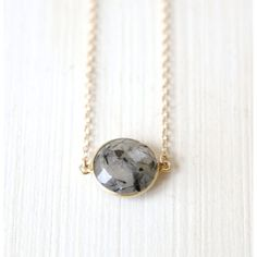 Stormy Rutilated quartz Necklace