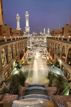 Saudi Arabia is the home of two holy places of Islam, Makkah and Medina. The holy city of Makkah is the birthplace of Islam and the Prophet Muhammad (PBUH), and Islamic Images, Islamic Pictures, Islamic Art, Beautiful World, Beautiful Places, Medina Mosque, Dubai, Masjid Al Haram, Mecca Masjid