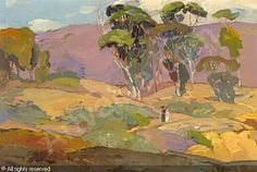 BISCHOFF Franz Arthur, 1864-1929 (USA)  Title : A Walk through a Eucalyptus Grove