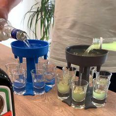 Glass Dispenser, Liquor Dispenser, Shot Glass Holder, Glass Holders, Liquor Pourers, Alcoholic Drinks, Cocktails, Alcohol Drink Recipes, Fruity Alcohol Drinks