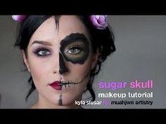 Sugar Skull Halloween Makeup Tutorial by MUAHjwn Artistry Sugar Skull Makeup Tutorial, Halloween Makeup Sugar Skull, Last Minute Halloween Costumes, Halloween 2013, Emo Makeup, Makeup Tips, Makeup Ideas, Creative, Artist