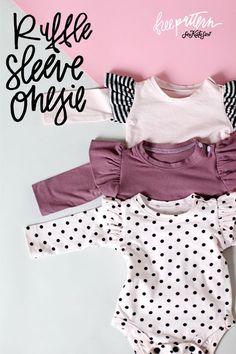 Ruffle Sleeve Onesie + Basic Onesie Pattern (FREE)! - see kate sew