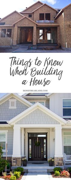 Things to Think about when Building a House