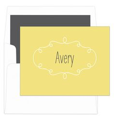 Lemon Simply Foldover Note Cards