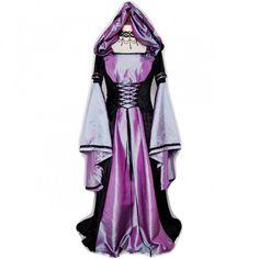 *Producto disponible bajo encargo.Vestido medieval de terciopelo negro y tafetan purpura bitono. http://www.d-gotico.com/vestidos-de-novia/263-vestido-medieval-terciopelo-negro-tafetan-purpura-bitono.html