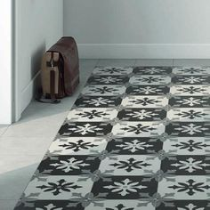 Bordeaux Paris Nero Patterned image 3 Black Tiles, Pattern Images, Floor Patterns, Moroccan Style, Wow Products, Victorian Fashion, One Color, Contemporary, Modern