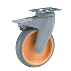 """Name:Swivel Medical Caster with brake Wheel Material:PA,PP,TPR Size:4"""" x 32mm ; 5"""" x 32mm Loading Capacity:70kg-80kg Bearing Type:Plain Bearing Type:Threaded Stem,Threaded Stem With Plastic Dual-Brake,Threaded Stem With Metal Dual-Brake Widely used as Hospital furniture casters,Hospital bed caster.Medical cart castors,Medical Device Casters"""