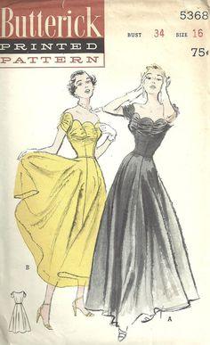 Butterick 5368 Vintage 50s Sewing Pattern Dress by studioGpatterns, $38.50
