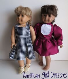 American Girl Dresses from FREE patterns, detailed photos of completed dresses to assist you too! Molly's School Jumper and Samantha's Party Dress
