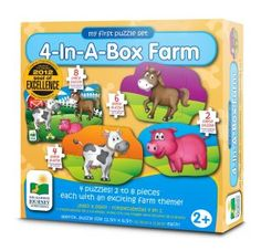 The Learning Journey My First Puzzle - Farm - Educational Toddler Toys & Gifts for Boys & Girls Ages 2 & Up - Award Winning Puzzle Puzzles For Toddlers, Educational Toys For Toddlers, First Animation, Puzzle Box, Farm Theme, Problem Solving Skills, Fine Motor Skills, Toddler Toys, Gifts For Boys