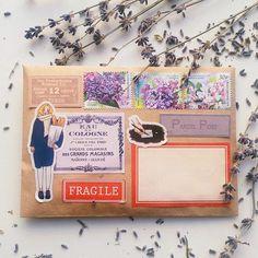 Mail Art Envelopes, Handmade Envelopes, Envelope Art, Envelope Design, Luv Letter, Aesthetic Letters, Snail Mail Pen Pals, Pen Pal Letters, Fun Mail