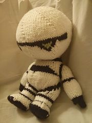 """Marvin the Paranoid Android Plushie - Free Knitting Pattern - PDF Pattern click """" download"""" or """" free Ravelry download"""""""