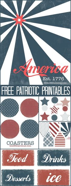 4th of July Printable Kit - gorgeous vintage printables!