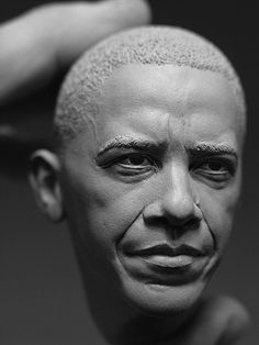 FFFFOUND! | Adam Beane - President Barack Obama Sculpture for Esquire Magazine- portrait closeup