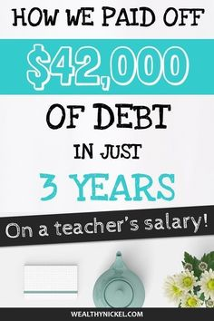 8 Simple Steps To Pay Off Debt on a Teacher's Salary Ways To Save Money, Money Saving Tips, Money Tips, Dave Ramsey Debt Snowball, Teacher Comments, Teacher Salary, Student Loans, Debt Free Living, Savings Plan