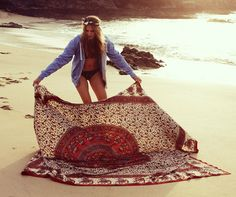 note to self: buy piece of big hippie cloth to use as beach towel this summer