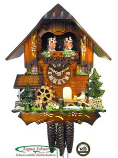 Black Forest Cuckoo Clock Beerdrinker, Music 12.2in New