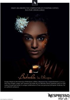 Morning! :) Emjoy an unexpected composition of ethiopian coffees in a pure origin lungo.  Nespresso #Advertising