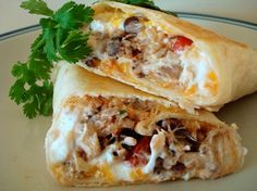 Crispy Southwest Chicken Wraps...healthy recipe and VERY filling!