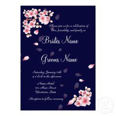Beautiful Night Sakura, custom invitations. 50% Off Select Cards & Invites - Perfect for Any Occasion Use Code: GRADINVITE13 Ends Tomorrow!
