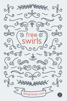 free decorated vector swirls