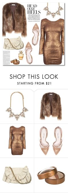 """""""Fall Date Night"""" by katrinaalice ❤ liked on Polyvore featuring Forever 21, Related, Oscar de la Renta, Felix Rey, Chanel, Stila and Elie Saab"""