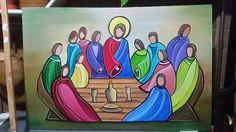 Last Supper Art, The Last Supper Painting, Jesus Drawings, Art Diary, Jesus Art, Biblical Art, Psychedelic Art, Religious Art, Doodle Art