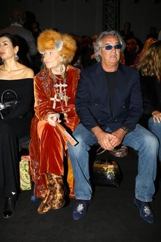 Ermanno Scervino Show At Milan Fashion Week In This Photo: Flavio Briatore, Marta Marzotto