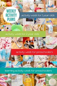 4 weeks of activities planned out to do with the kids