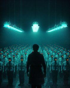 #cyberpunk #art #graphic #future Автор: beeple