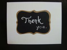Thank you. chalkboard card by JellybeanArtCards on Etsy