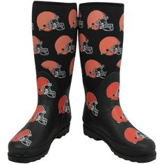 Cleveland Browns rain boots!! <3 here we go Brownies, here we go! Woof woof