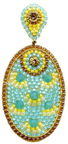 Aqua hydro-quartz, Swarovski, and Miyuki seed beads, Miguel Ases