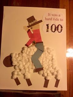 "Cowboy riding a sheep ""It was a hard ride to 100"""