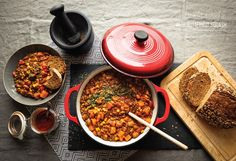 Winter - Chili sin Carne // Ginger and Mint Vegan Meals, Vegan Food, Vegan Recipes, Butternut Squash, Chana Masala, Chili, Travelling, Diy Ideas, Mint