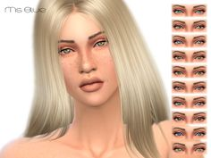 The Sims Resource: Unique Eyes V1 by Ms Blue • Sims 4 Downloads