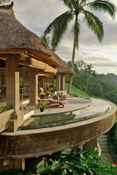 Set amid stepped rice fields, the Viceroy Bali stands guard over the Petanu River gorge. #Jetsetter