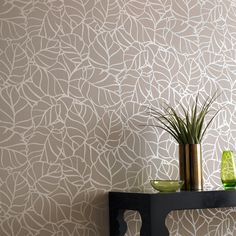 superfresco vine (mocha): graham and brown wallpaper Bathroom Accent Wall, Bathroom Rules, Brown Wallpaper, Home Wallpaper, Modern Lounge, Wall Treatments, Textured Walls, Textures Patterns, Wall Design