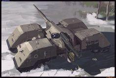 Ambush tank design, E wo kaku Peter on ArtStation at https://www.artstation.com/artwork/ROvXX