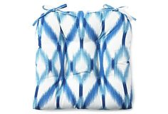 Izmir Ikat Aegean Single Cushion, Waverly - One Kings Lane just pitched two o these for the refinished wicker outside!