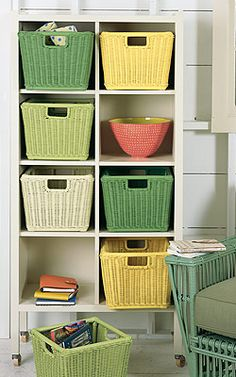 Maine Cottage Monday Baskets . Can you ever have too much storage space?