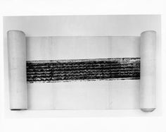 "Rauschenberg, ""Automobile Tire Print"", 1953."