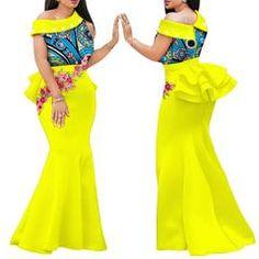 fced1e00a9f41 2019 Nigerian women dress print wax fabric banquet formal maxi plus big  size african women clothing