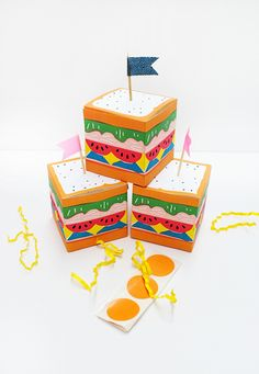 Printable Sandwich Treat Boxes | Oh Happy Day! | Bloglovin'